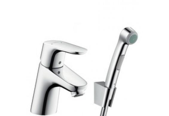 Змішувач для умивальника Hansgrohe Focus Е2 з гігієнічним душем (31926000)