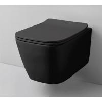 Підвісний унітаз ArtCeram A16 mini, glossy black (ASV0050500)