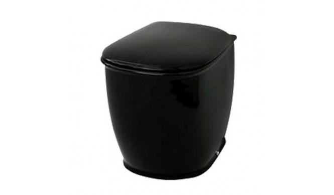 Підлоговий унітаз ArtCeram Azuley, glossy black (AZV0020300)