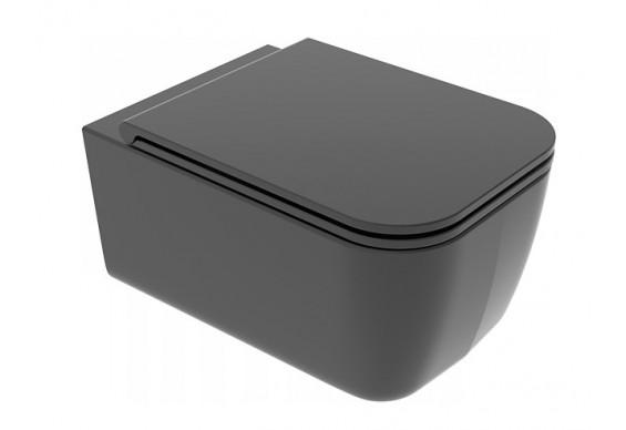 Підвісний унітаз GSG BRIO 52,5 см Smart Clean matt Black (BRWCSO003)