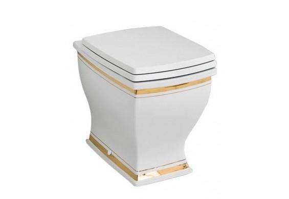 Підлоговий унітаз ArtCeram Blues, gold stripes (BUV0020111)