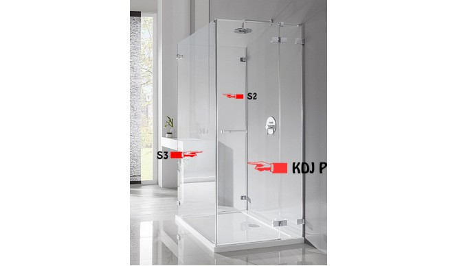 Бокова Стінка для душової кабіни Radaway Euphoria S2 100 (383032-01)