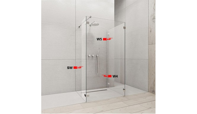 Бокова Стінка для душової кабіни Radaway Euphoria W5 80 (383150-01-01)