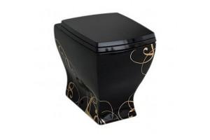 Підлоговий унітаз ArtCeram Jazz, gold lettering black (JZV0020306)