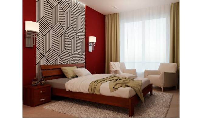 Двоспальне ліжко НеоМеблі Лагуна 140х200 (NM24/200)