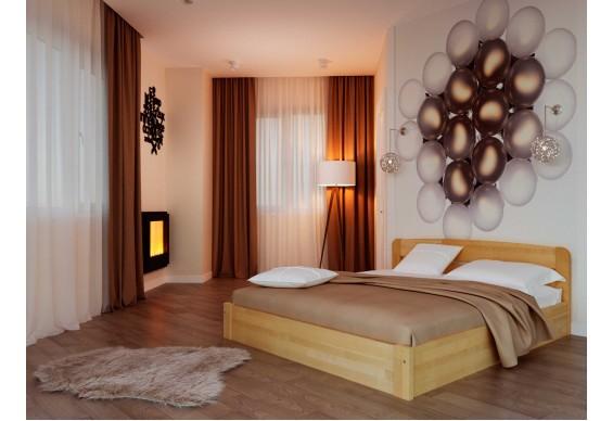 Двоспальне ліжко НеоМеблі Октавія з підйомним механізмом 180х200 (NM40)