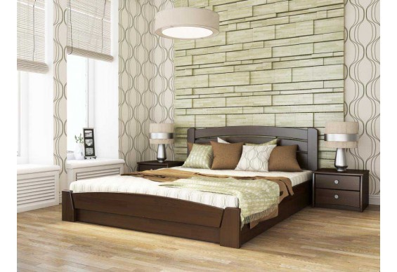 Двоспальне ліжко Естелла Селена Аурі з підйомним механізмом 160х200 буковий масив (DV-23)