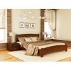 Односпальне ліжко Естелла Венеція Люкс 120х200 буковий масив (OL-18)