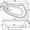 Ванна Vagnerplast Avona 150x90 см, ліва (VPBA159AVO3LX-01)