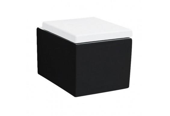 Підвісний унітаз ArtCeram Block, black white (BKV0010150)