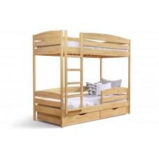Двоярусне ліжко Естелла Дует Плюс 80х190 буковий щит (DEPL-01)