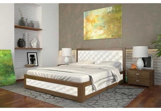 Двоспальне ліжко Арбор Древ Рената М з підйомним механізмом ромб 160х200 сосна (RMN160)