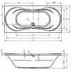 Ванна Riho Supreme пряма 190x90 см (BA58)