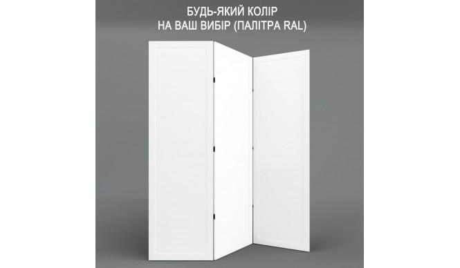 Ширма ДекоДім Економ на 3 секції 180х200 см, будь-який колір RAL (EF11-12)