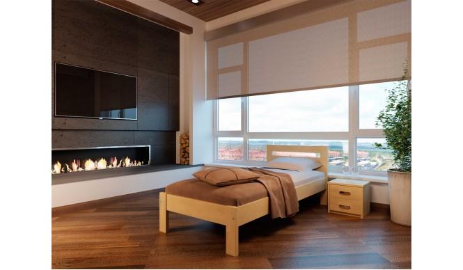 Односпальне ліжко НеоМеблі Соната 120х190 (NM12)