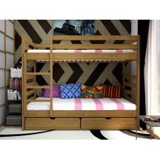 Двоярусне ліжко ТИС Трансформер 1 80x190 дуб (TS5)