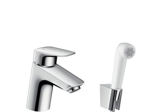 Змішувач для умивальника Hansgrohe Logis 70 з гігієнічним душем, хром (71290000)