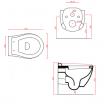 Підвісний унітаз ArtCeram Blend, gold lettering (BLV0010106)