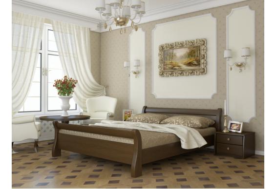 Двоспальне ліжко Естелла Діана 180х200 буковий щит (DV-09)