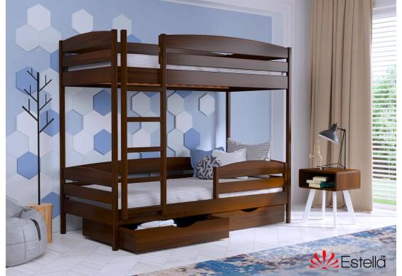 Двоярусне ліжко Естелла Дует Плюс 80х200 буковий масив (DEPL-032)