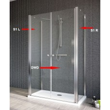 Бокова Стінка для душової кабіни Radaway Eos II S1 75 права, прозоре (3799409-01R)