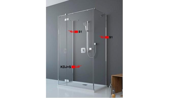 Двері для П-подібної душової кабіни Radaway Essenza New KDJ+S 100 ліві (385022-01-01L)