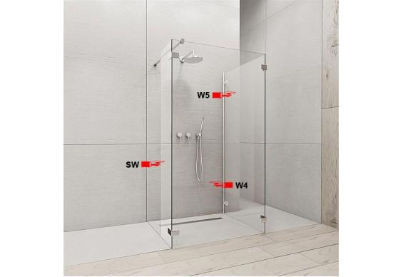 Бокова Стінка для душової кабіни Radaway Euphoria W5 90 (383151-01-01)