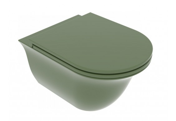 Підвісний унітаз GSG Flut 52,5 см Smart Clean Olive (FLWCSO026)
