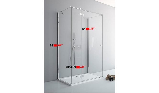 Двері для П-подібної душової кабіни Radaway Fuenta New KDJ+S S 100 ліві (384022-01-01L)