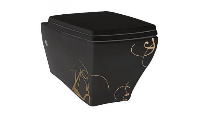 Підвісний унітаз ArtCeram Jazz, gold lettering black (JZV0010306)
