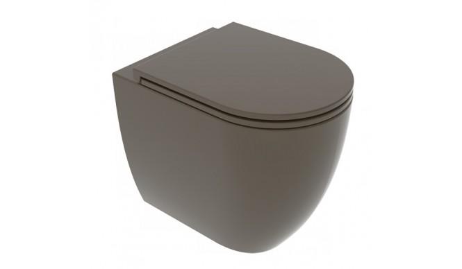 Унітаз підлоговий GSG LIKE 52,5 см Smart Clean matt Coffe (LKWC01018)