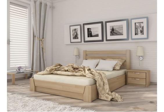 Двоспальне ліжко Естелла Селена з підйомним механізмом 160х200 буковий щит (LP-03)