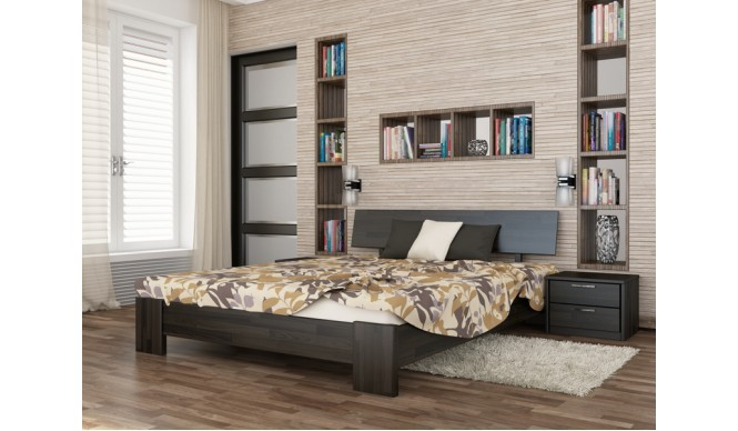 Двоспальне ліжко Естелла Титан 180х200 буковий щит (DV-39)
