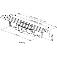 Трап Ravak Runway 850мм (X01388)