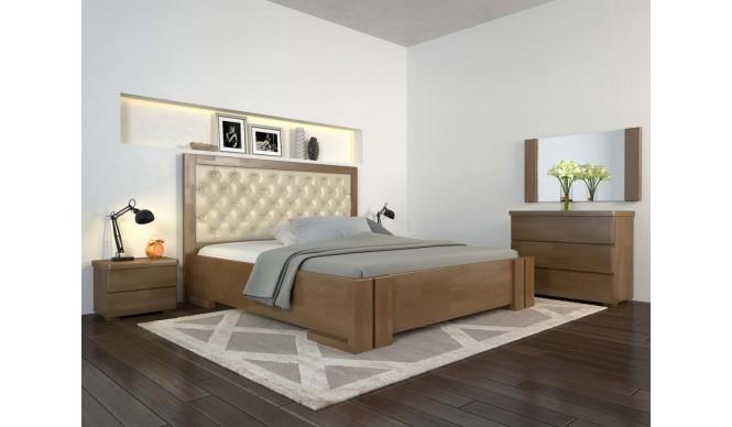 Двоспальне ліжко Арбор Древ Амбер з підйомним механізмом ромб 160х190 бук (ADZ160.2)