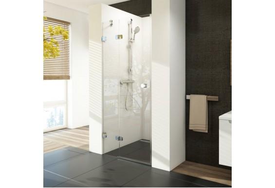 Двоелементні душові двері Ravak Brilliant BSD2-90 A-L хром + скло Transparent (0UL7AA00Z1)