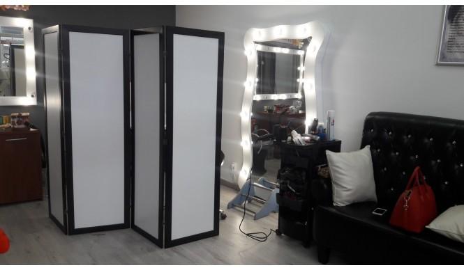 Ширма ДекоДім Економ на 5 секцій 250х200 см, чорно-біла (DK11-19)