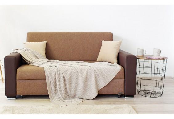 Прямий двухмістний диван Embawood Бостон, коричневий (EW-29)