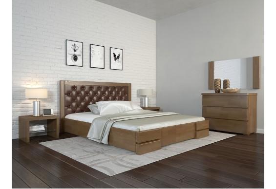 Односпальне ліжко Арбор Древ Регіна Люкс ромб 120х200 бук (TR120)