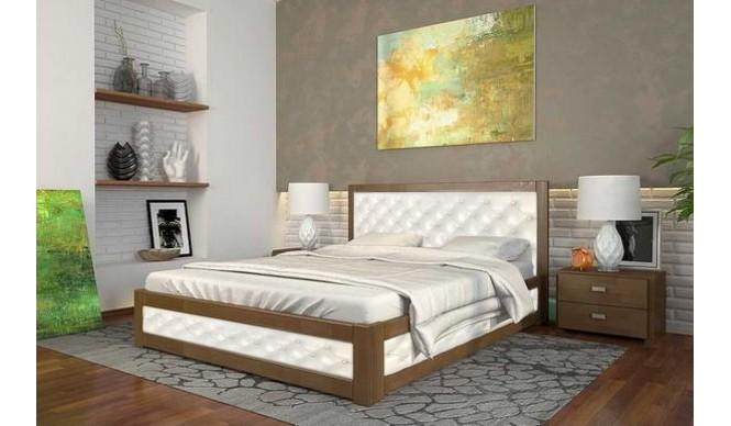 Двоспальне ліжко Арбор Древ Рената М з підйомним механізмом ромб 160х200 бук (RNM160)