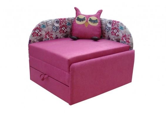 Дитячий диван ТМ Віка Сова, кут Г розовий (VK025)