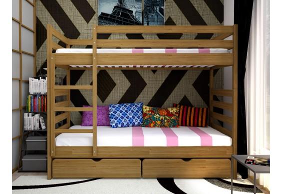 Двоярусне ліжко ТИС Трансформер 1 90x200 дуб (TS6)