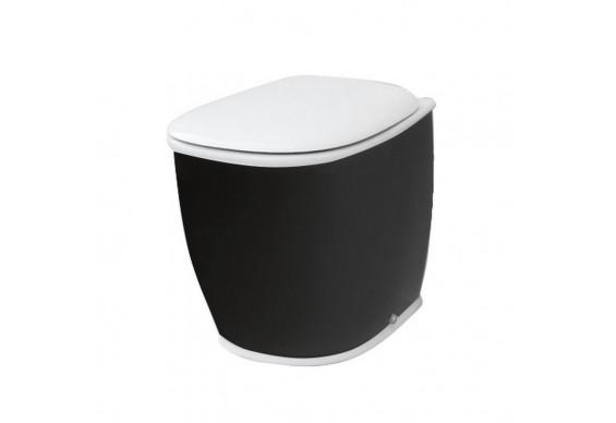 Підлоговий унітаз ArtCeram Azuley, black white (AZV0020150)