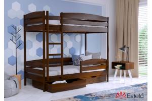 Двоярусне ліжко Естелла Дует Плюс 80х190 буковий масив (DEPL-03)