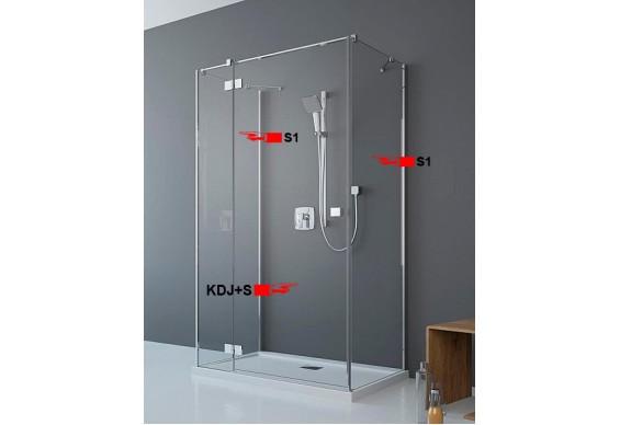 Двері для П-подібної душової кабіни Radaway Essenza New KDJ+S 110 ліві (385023-01-01L)