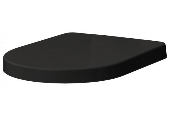Сидіння soft-close з кришкою для унітазу ArtCeram File 2.0, glossy black (FLA00203)