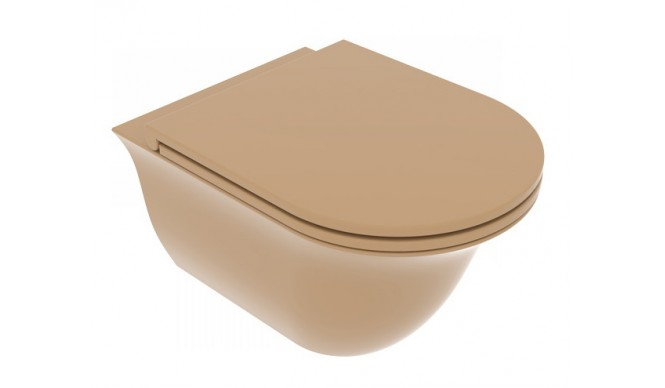 Підвісний унітаз GSG Flut 52,5 см Smart Clean matt Chestnut (FLWCSO017)