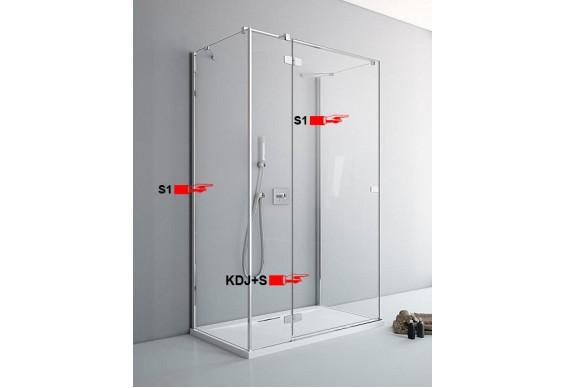 Двері для П-подібної душової кабіни Radaway Fuenta New KDJ+S S 110 ліві (384023-01-01L)