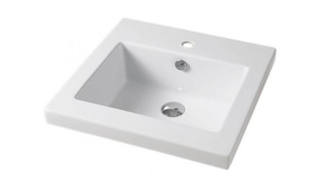 Врізний умивальник ArtCeram Gap 51, white (GPL0050100)