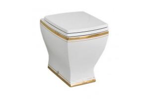 Підлоговий унітаз ArtCeram Jazz, gold stripes (JZV0020111)